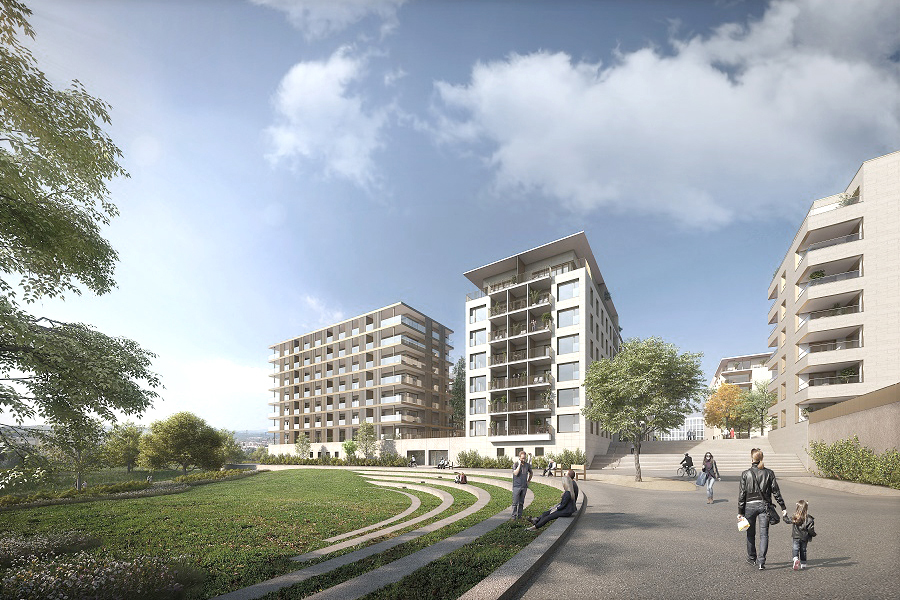 Djao-Rakitine Ban de Gasperich New Residential District, Luxembourg City
