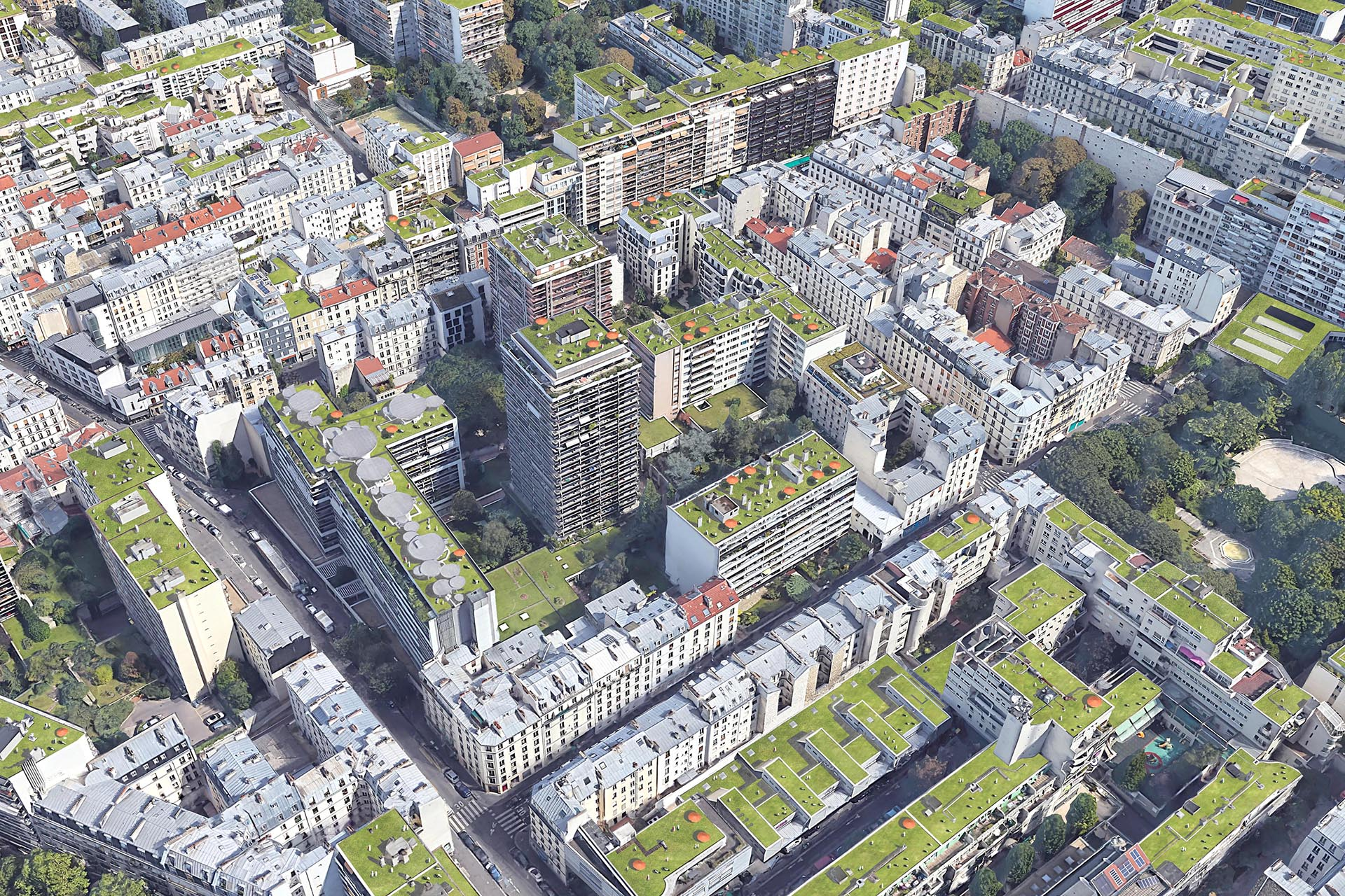 Djao-Rakitine Lawn typology and urban cooling, Paris